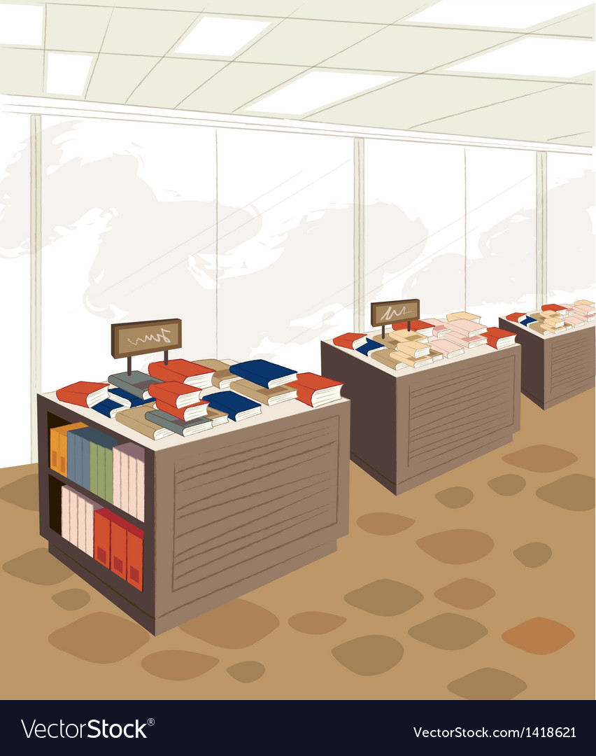 Book store background vector | Price: 1 Credit (USD $1)