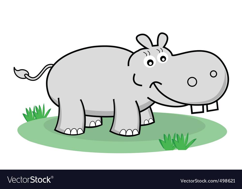 Cartoon hippopotamus vector | Price: 1 Credit (USD $1)