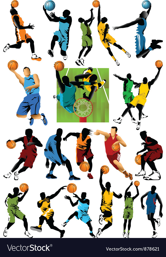 Collection of basketball stars vector | Price: 1 Credit (USD $1)