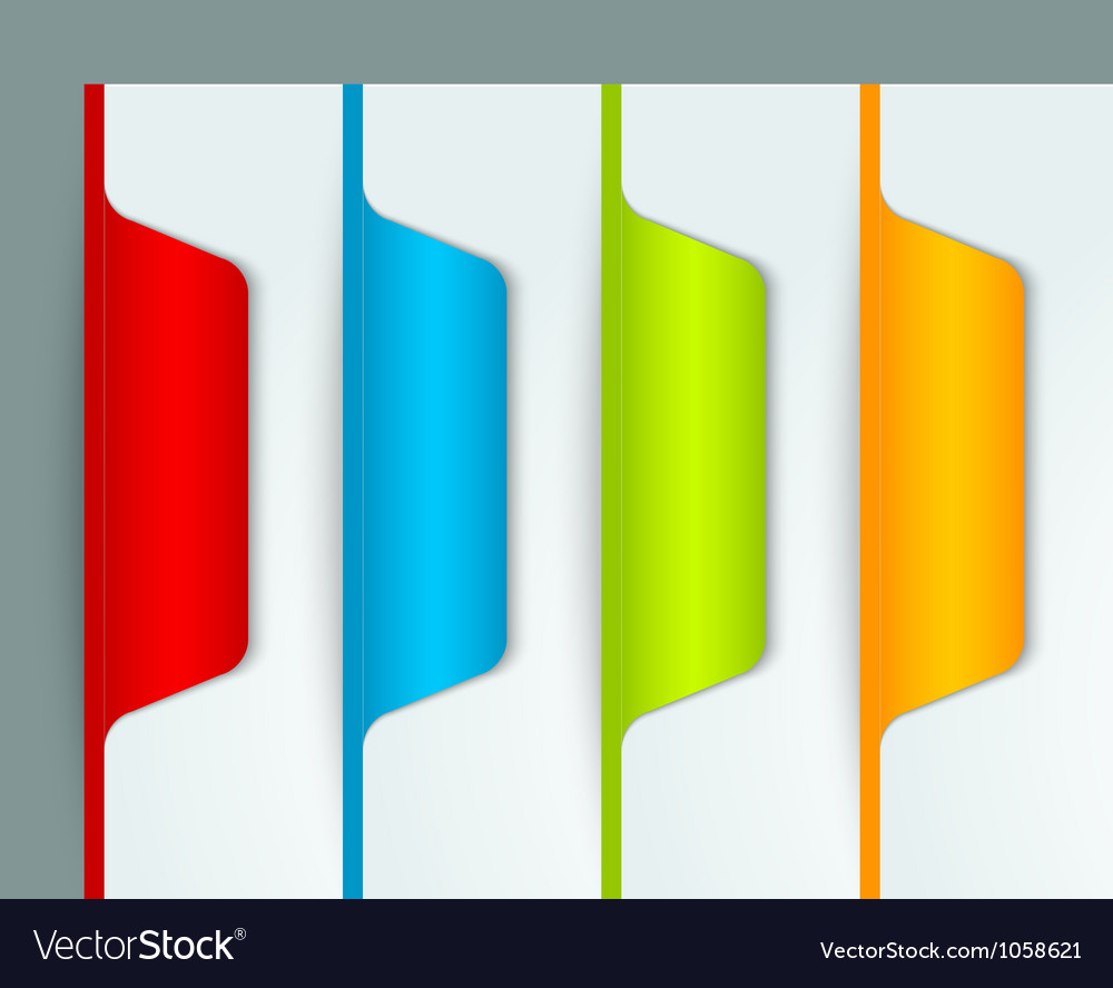 Colorful bookmarks vector | Price: 1 Credit (USD $1)