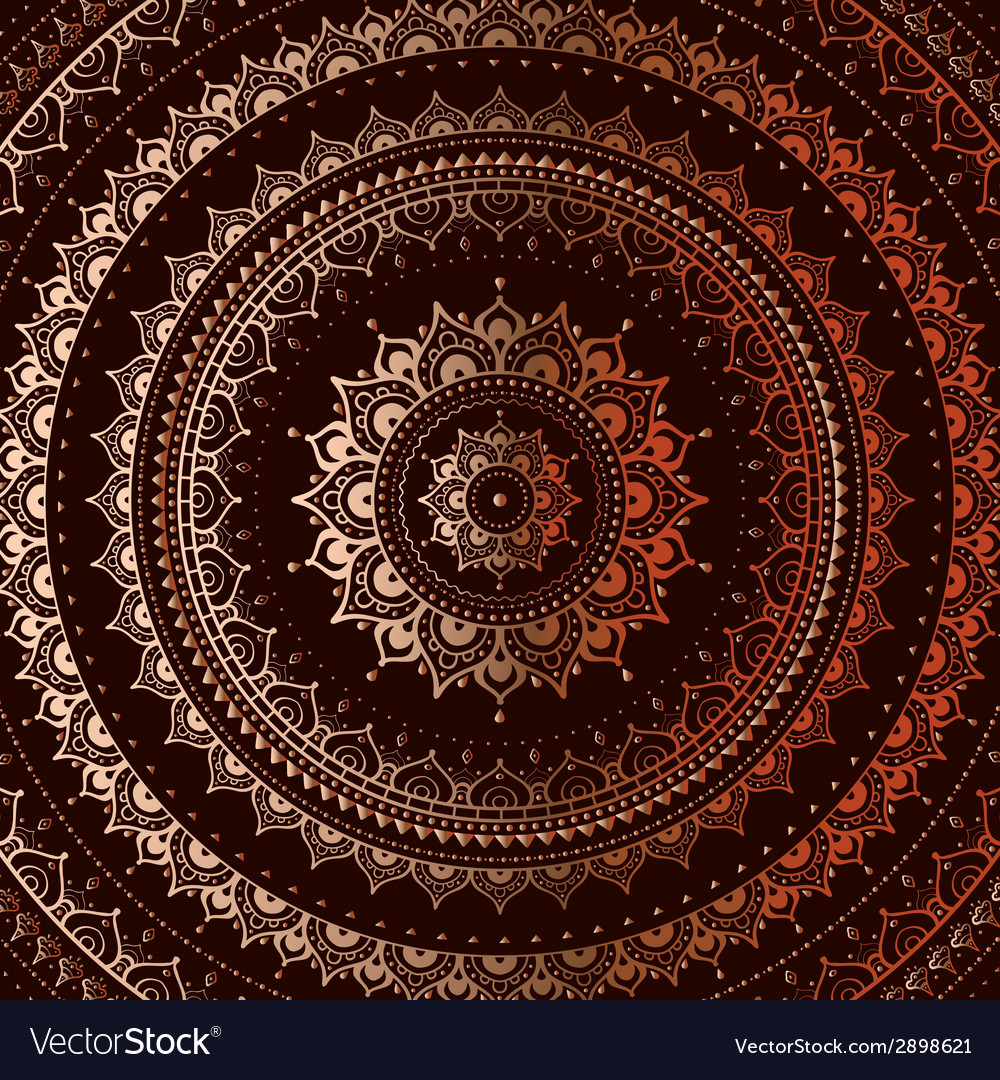 Gold mandala vector | Price: 1 Credit (USD $1)