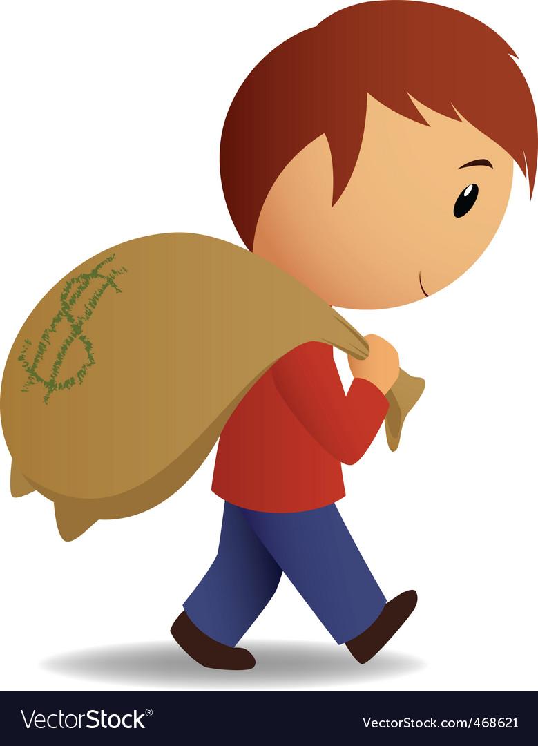 Money bag icon vector | Price: 1 Credit (USD $1)
