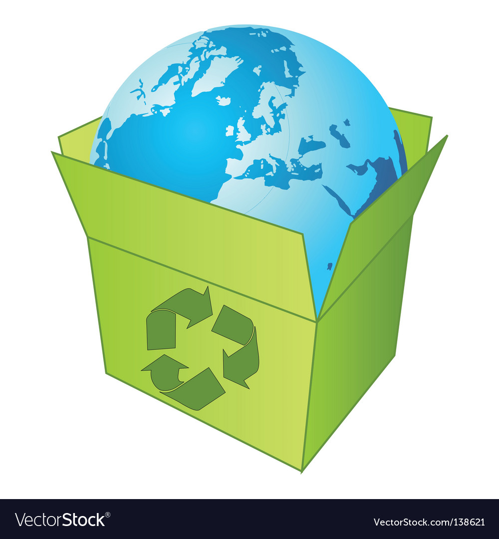 Recycling the planet vector | Price: 1 Credit (USD $1)