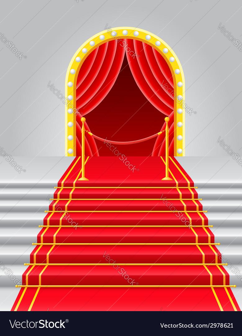 Red carpet 04 vector | Price: 1 Credit (USD $1)