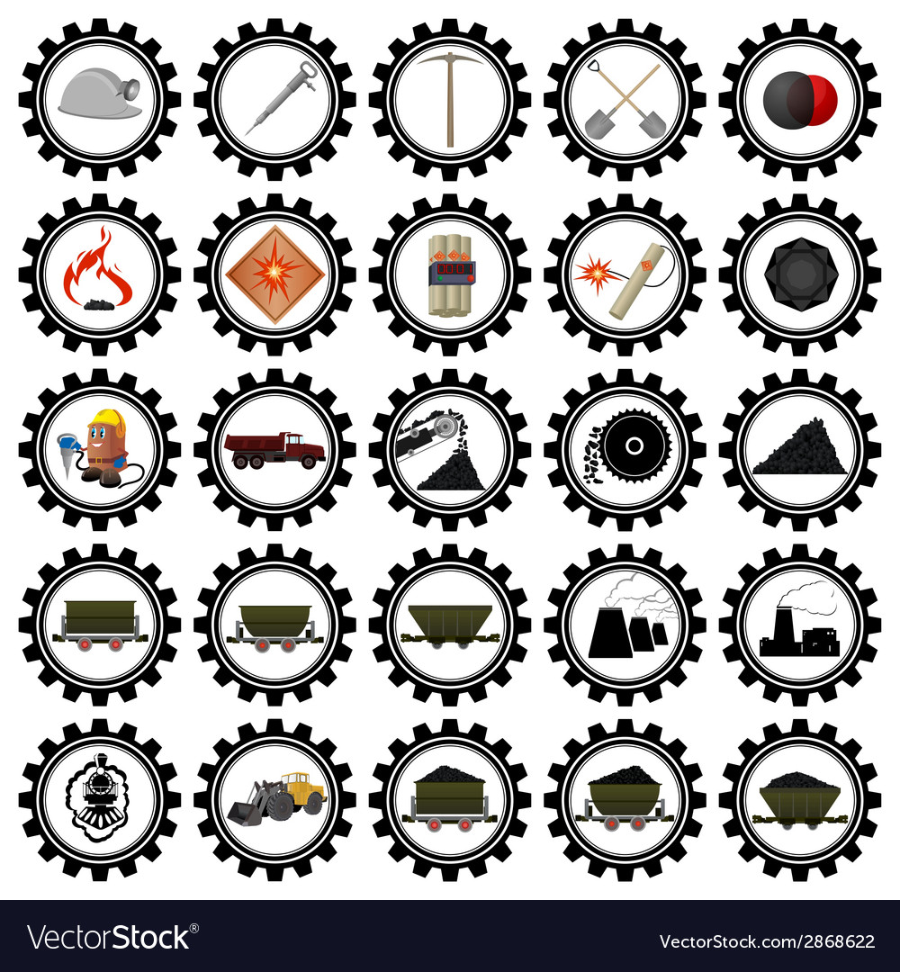 Badges coal industry-1 vector | Price: 1 Credit (USD $1)