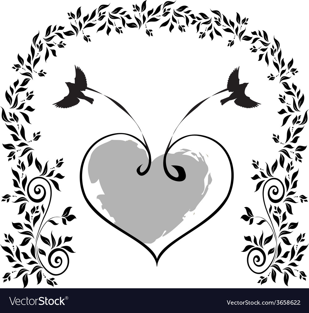 Birds-with-a-heart vector   Price: 1 Credit (USD $1)