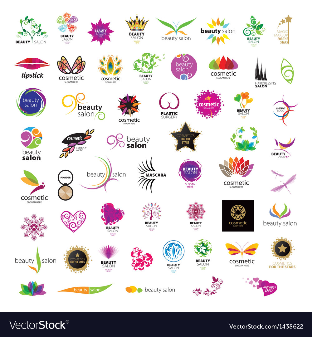 Collection of logos for cosmetics vector | Price: 1 Credit (USD $1)