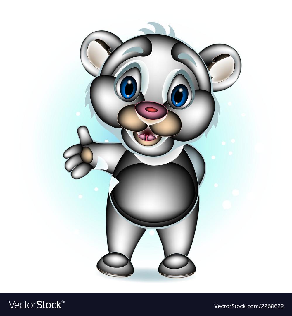 Cute polar bear presenting vector | Price: 1 Credit (USD $1)