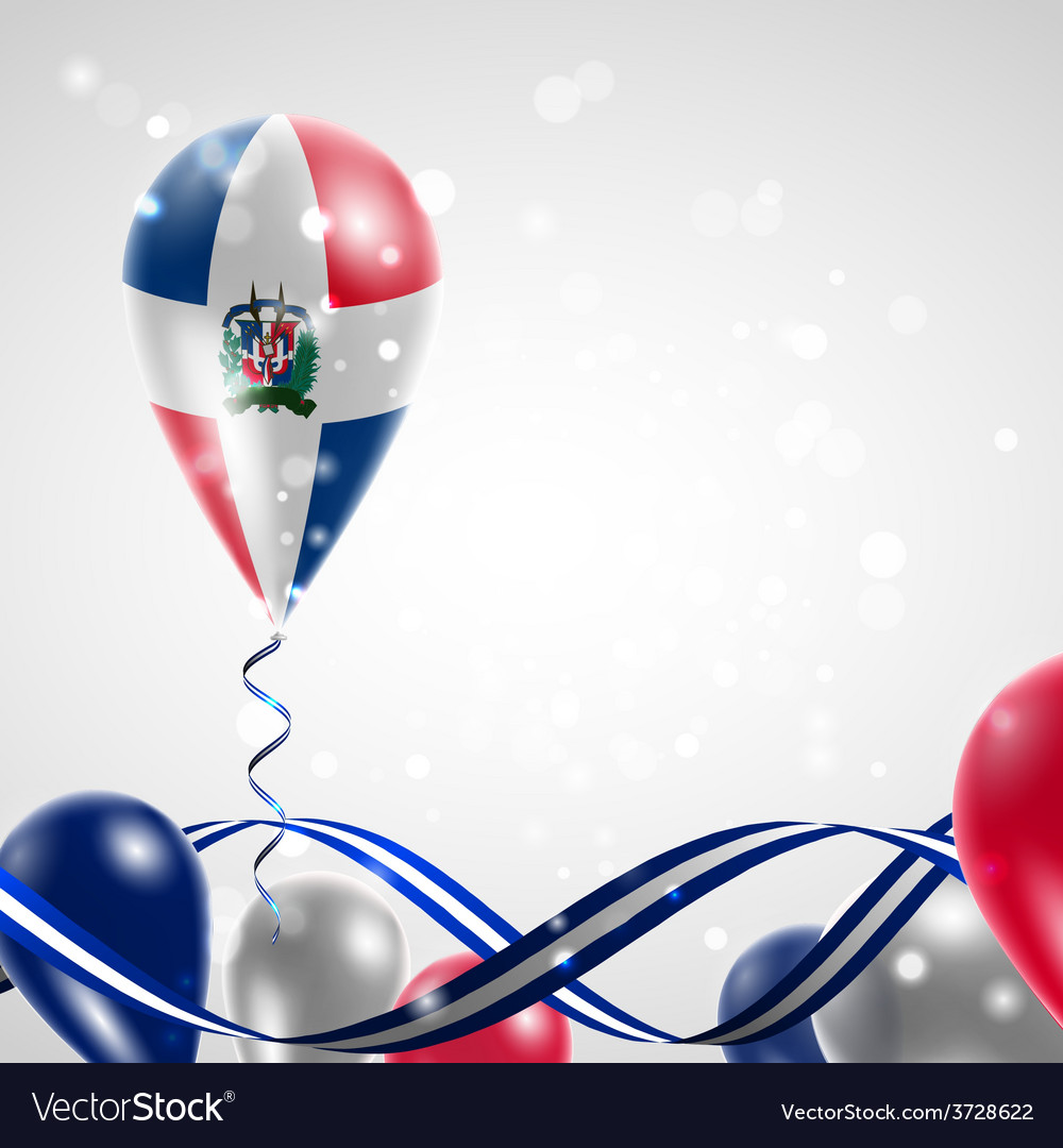 Flag of dominican republic on balloon vector | Price: 3 Credit (USD $3)