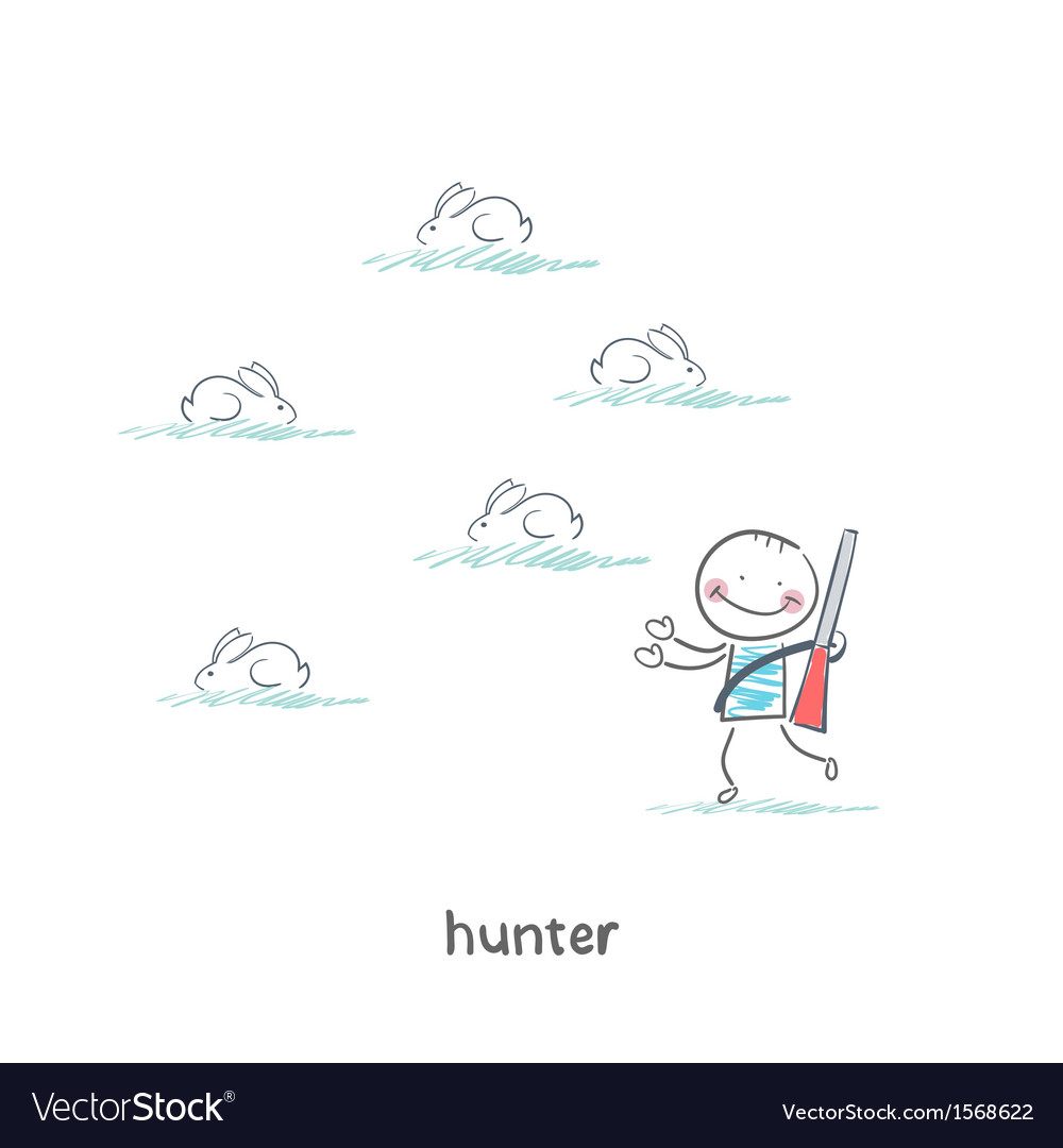 Hunter vector | Price: 1 Credit (USD $1)