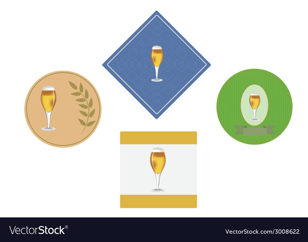 Label under a beer glass vector | Price: 1 Credit (USD $1)