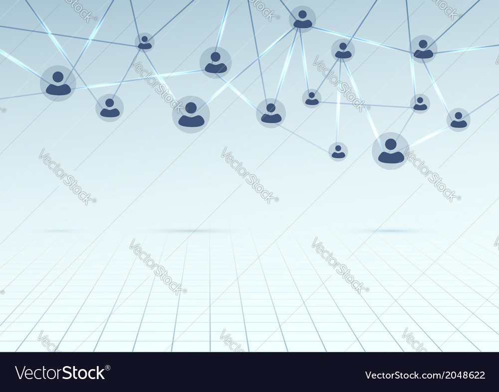 Modern social network connection background vector | Price: 1 Credit (USD $1)