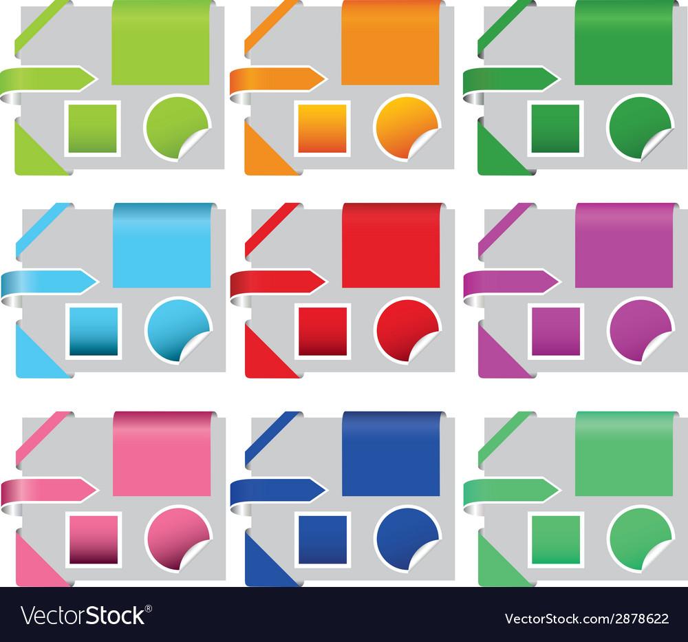 Website elements vector | Price: 1 Credit (USD $1)