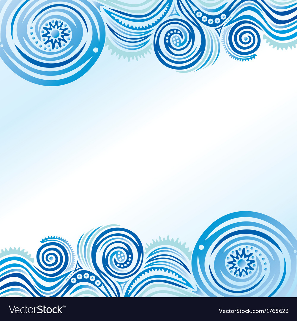 Beautiful sea wave vector | Price: 1 Credit (USD $1)