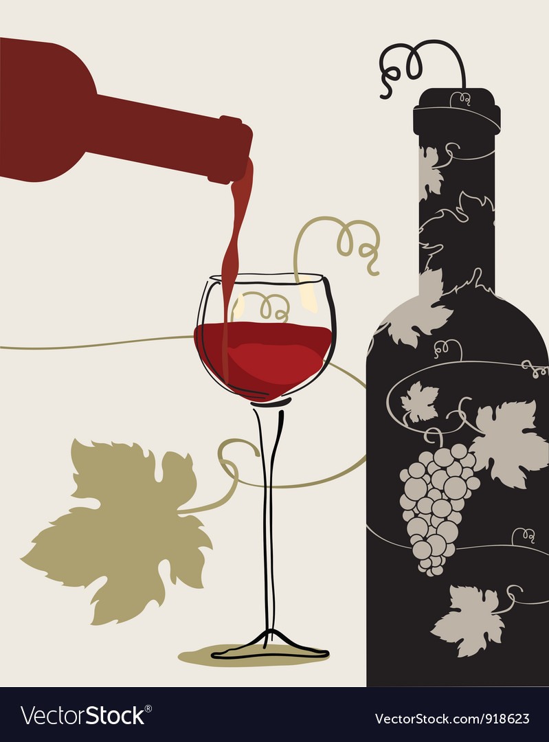 Bottle wine glass grapes vector | Price: 1 Credit (USD $1)
