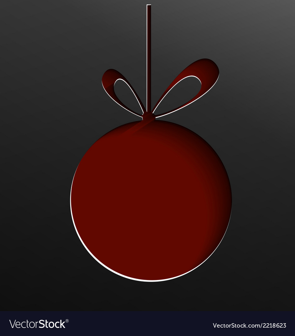 Christmas ball cut of paper vector | Price: 1 Credit (USD $1)