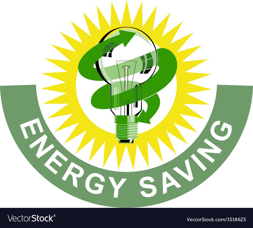 Energy saving label lightbulb vector | Price: 1 Credit (USD $1)