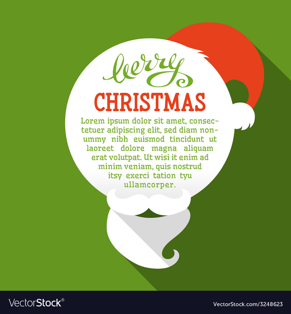 Flat christmas card with long shadow vector   Price: 1 Credit (USD $1)