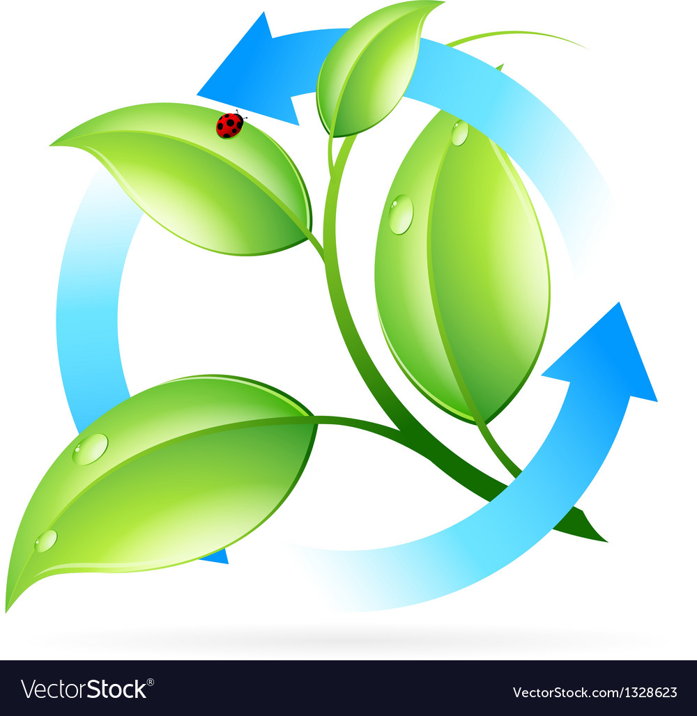 Fresh green leaves icon vector | Price: 1 Credit (USD $1)