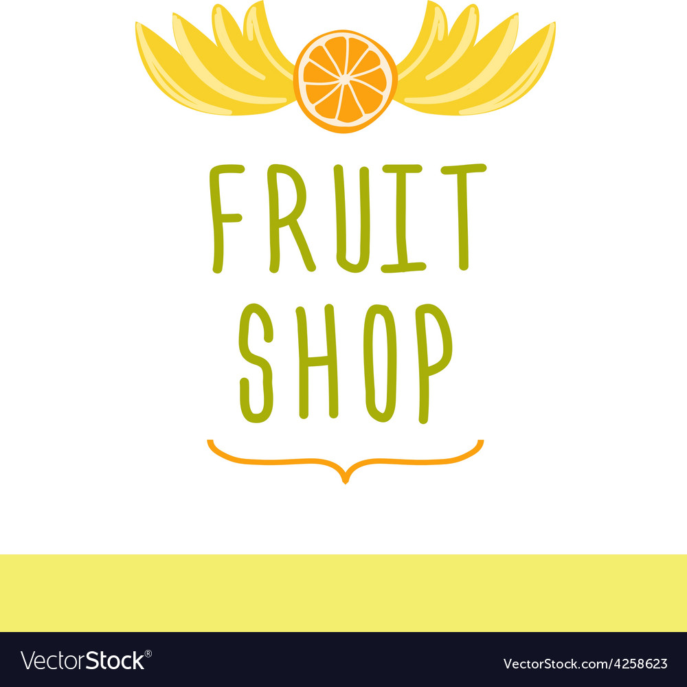 Fruit shop editable template logo or signage vector | Price: 1 Credit (USD $1)
