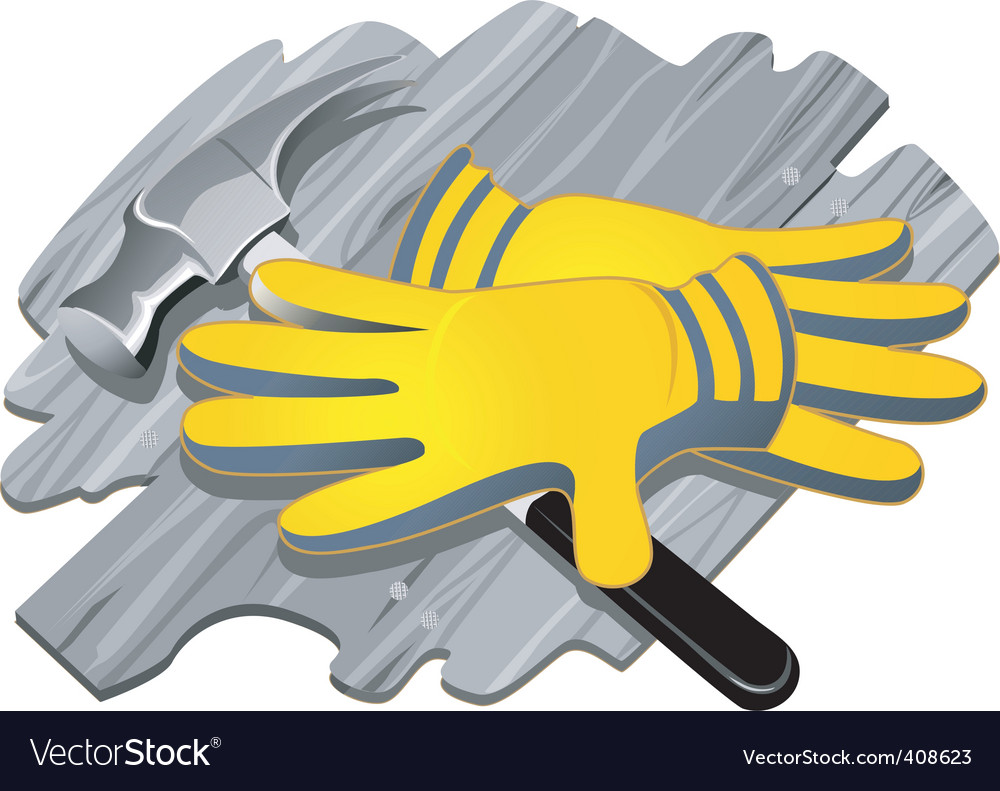 Gloves and steel equipment vector | Price: 1 Credit (USD $1)