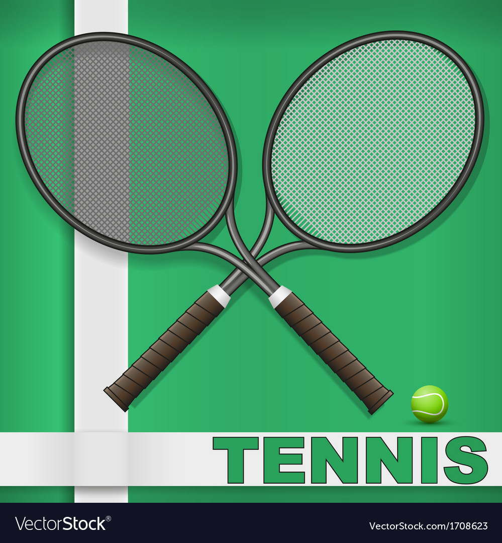 Grass court and rackets vector | Price: 1 Credit (USD $1)