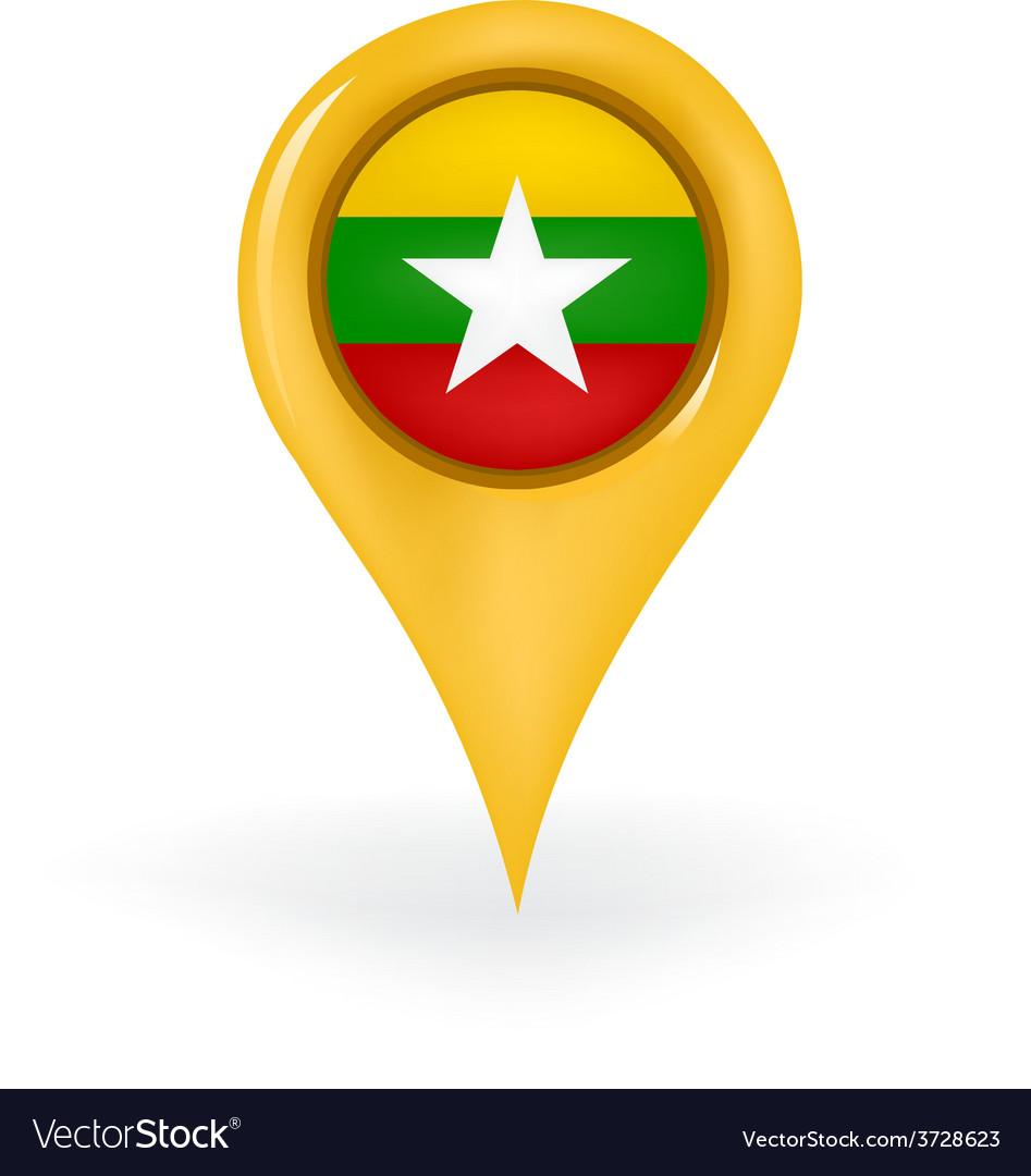 Location myanmar vector | Price: 1 Credit (USD $1)