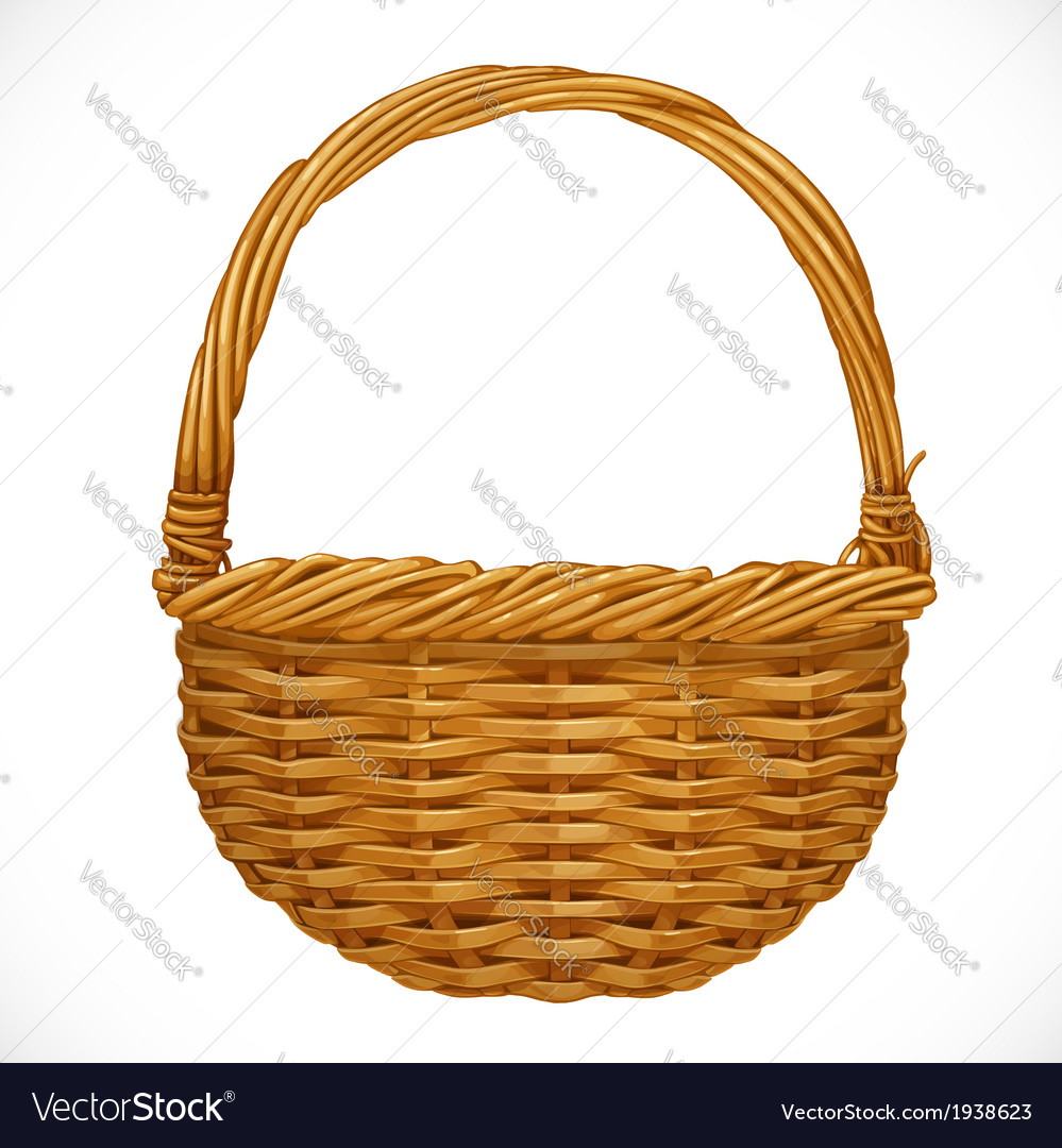 Realistic wicker basket vector | Price: 1 Credit (USD $1)