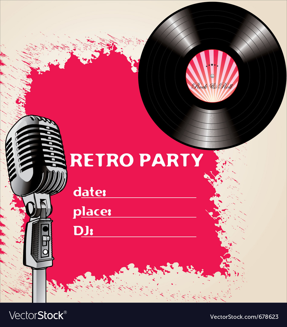 Retro party - background vector | Price: 1 Credit (USD $1)
