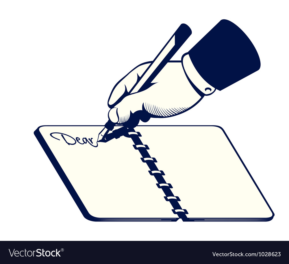 Retro writing hand vector | Price: 1 Credit (USD $1)