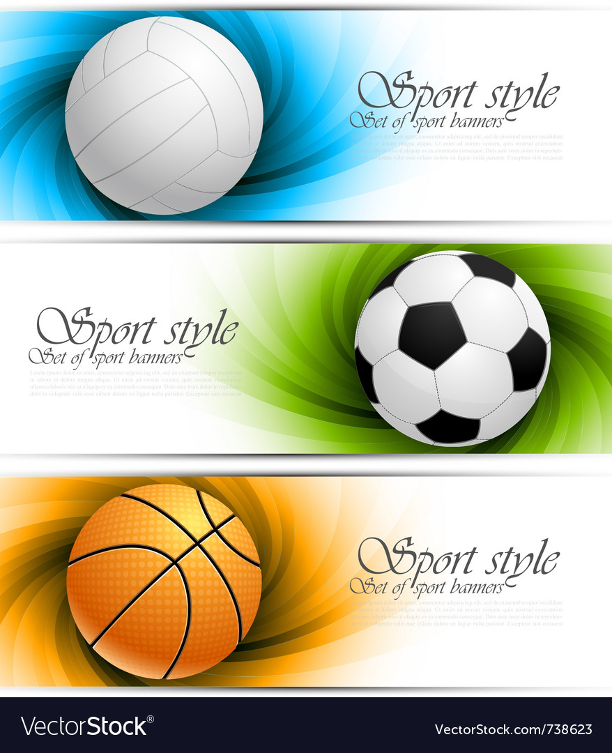 Set of banners with balls vector | Price: 3 Credit (USD $3)