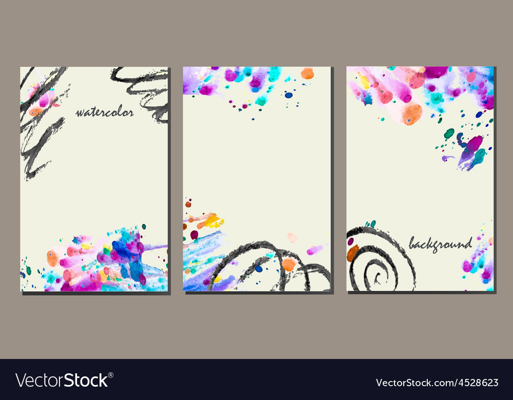 Set of templates vector | Price: 1 Credit (USD $1)