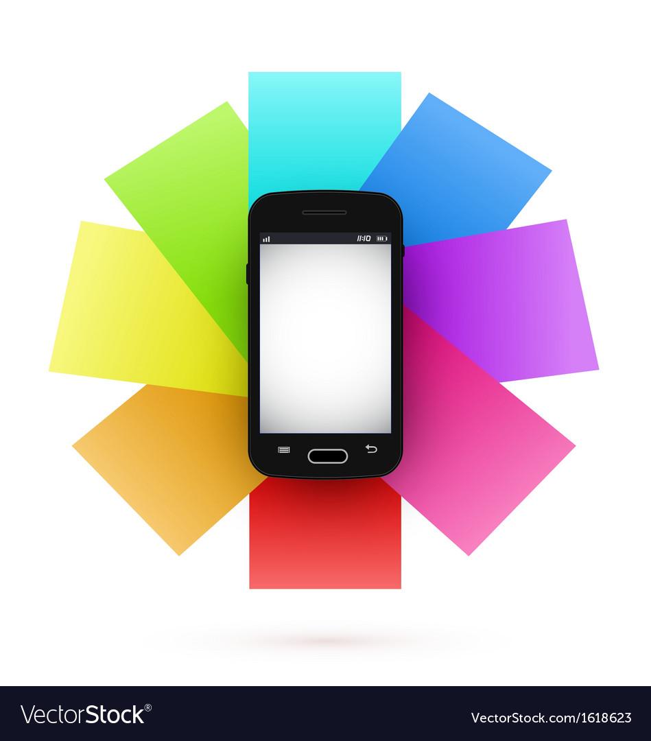 Smart phone infographics vector