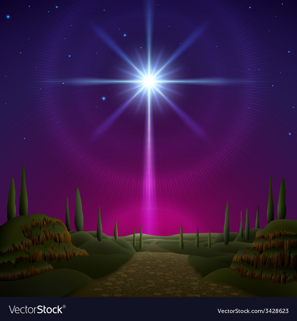 Star of bethlehem vector | Price: 3 Credit (USD $3)