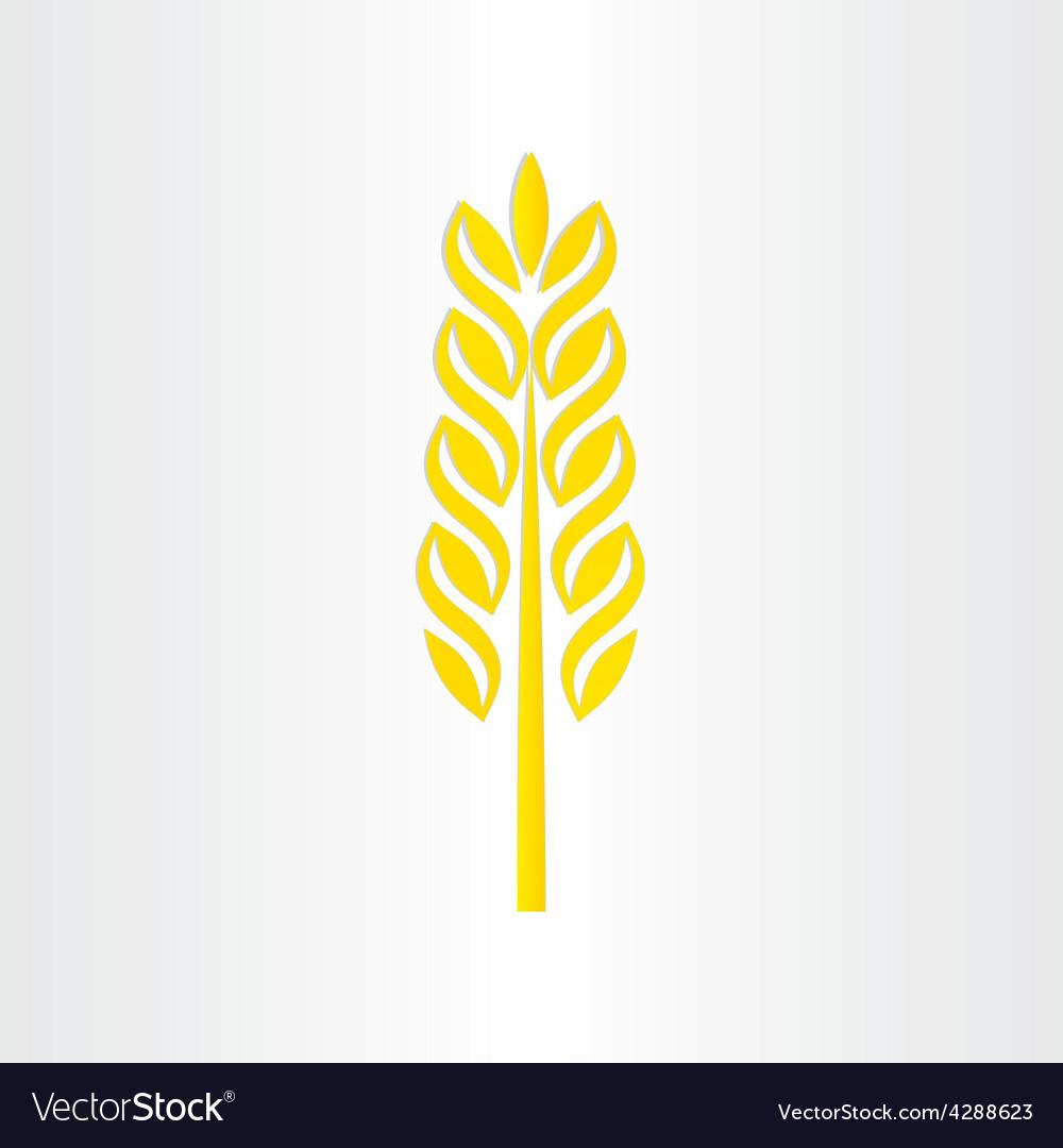 Wheat grain stylized icon design vector   Price: 1 Credit (USD $1)