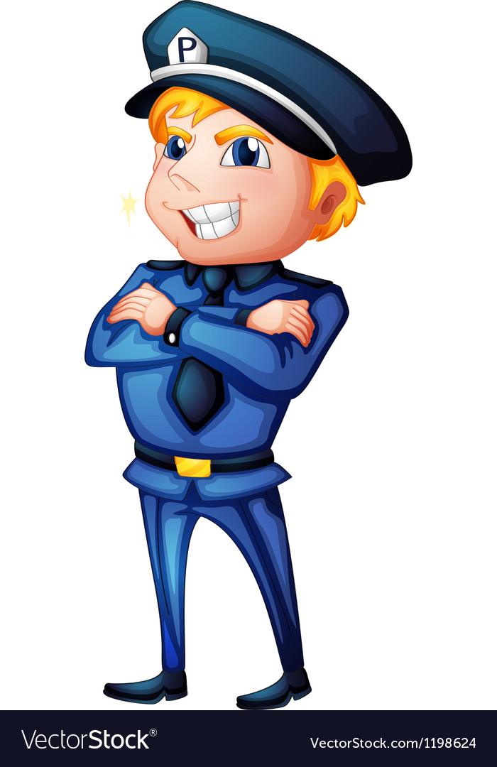 A policeman in a complete uniform vector | Price: 1 Credit (USD $1)