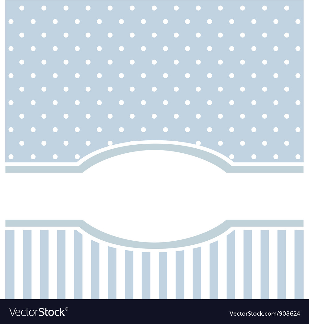 Birthday or baby shower invitation blue card vector | Price: 1 Credit (USD $1)