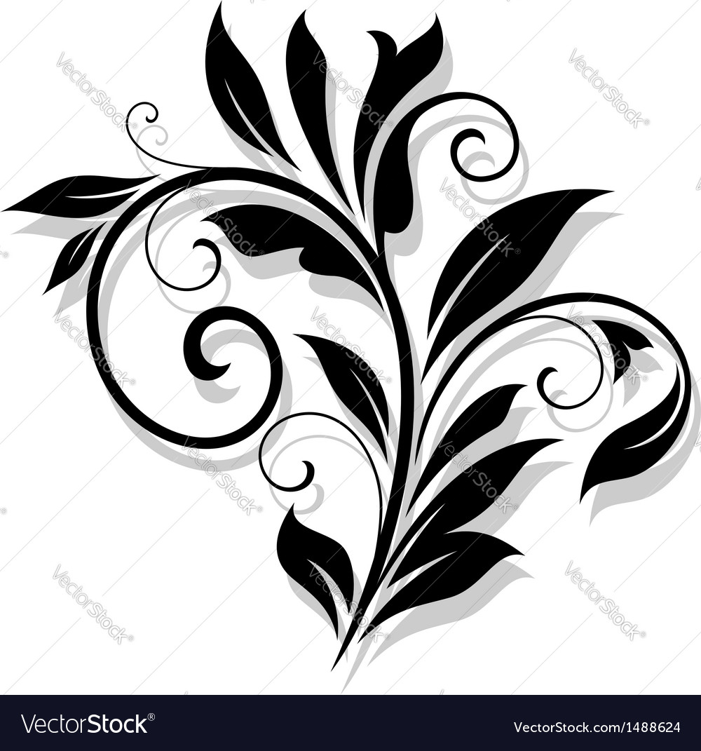 Elegance floral element vector | Price: 1 Credit (USD $1)