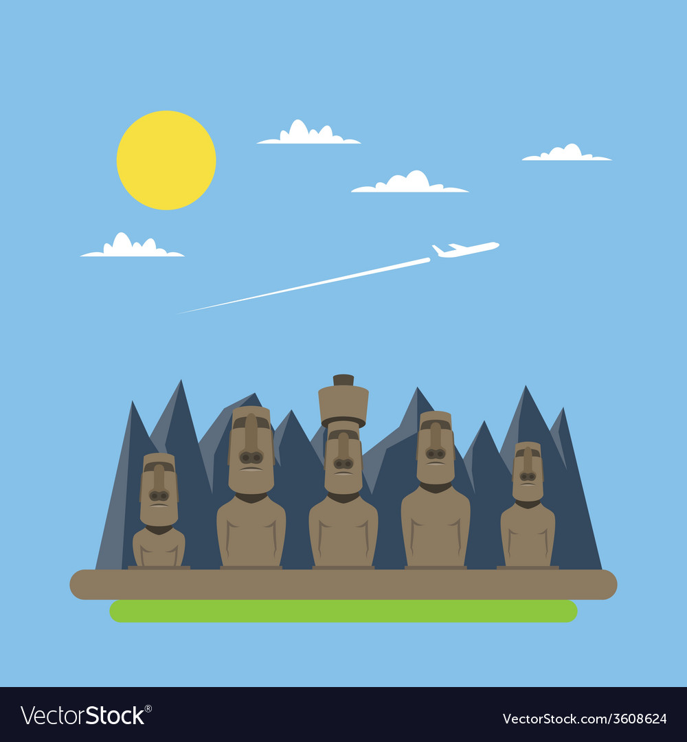 Flat design of chichen itza mexico vector | Price: 1 Credit (USD $1)