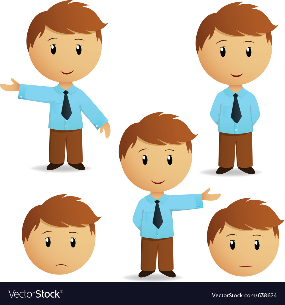 Happy cartoon businessman vector | Price: 3 Credit (USD $3)