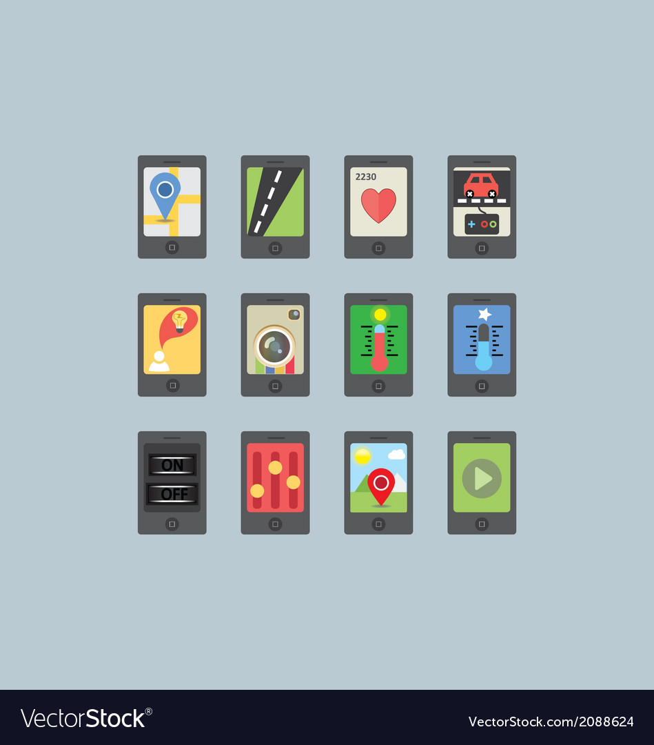 Mobile and tablet apps vector | Price: 1 Credit (USD $1)