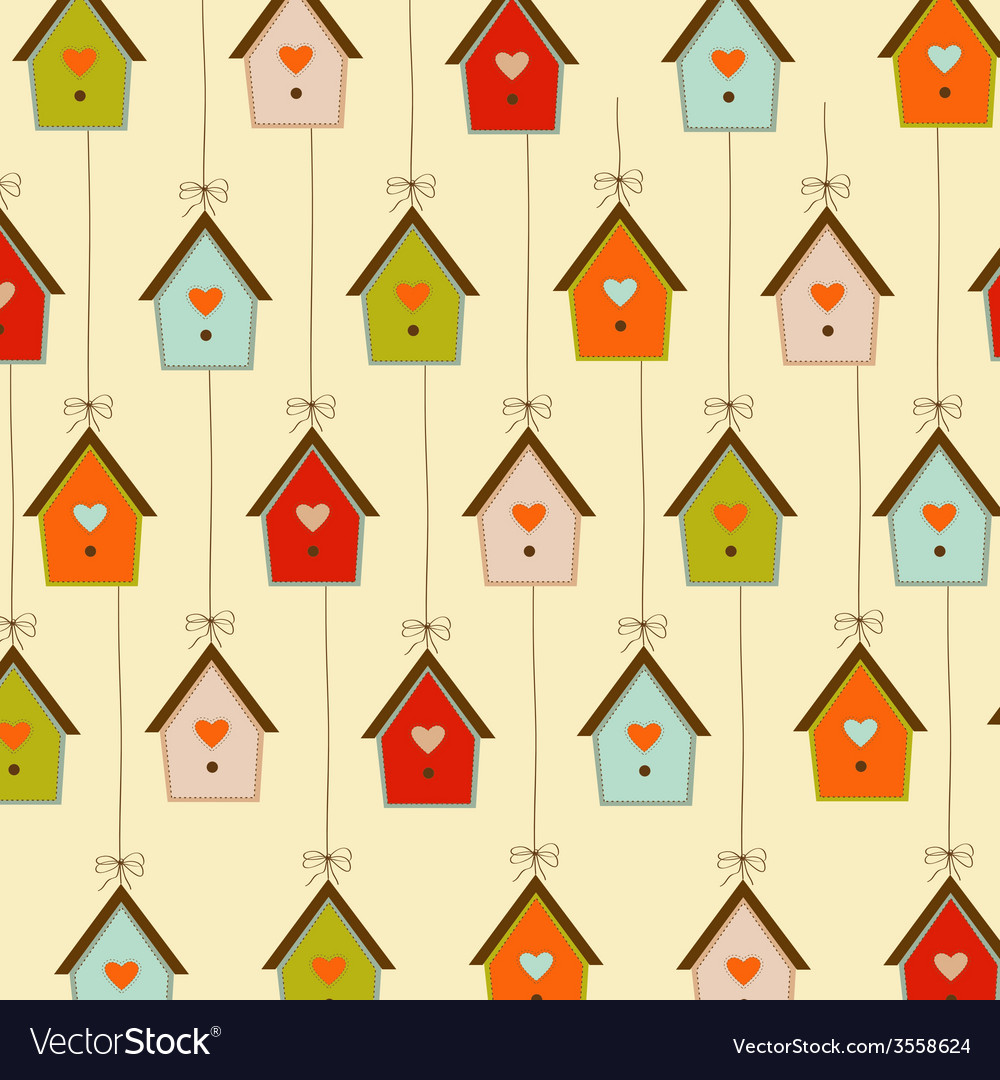Pattern with birdcages vector | Price: 1 Credit (USD $1)