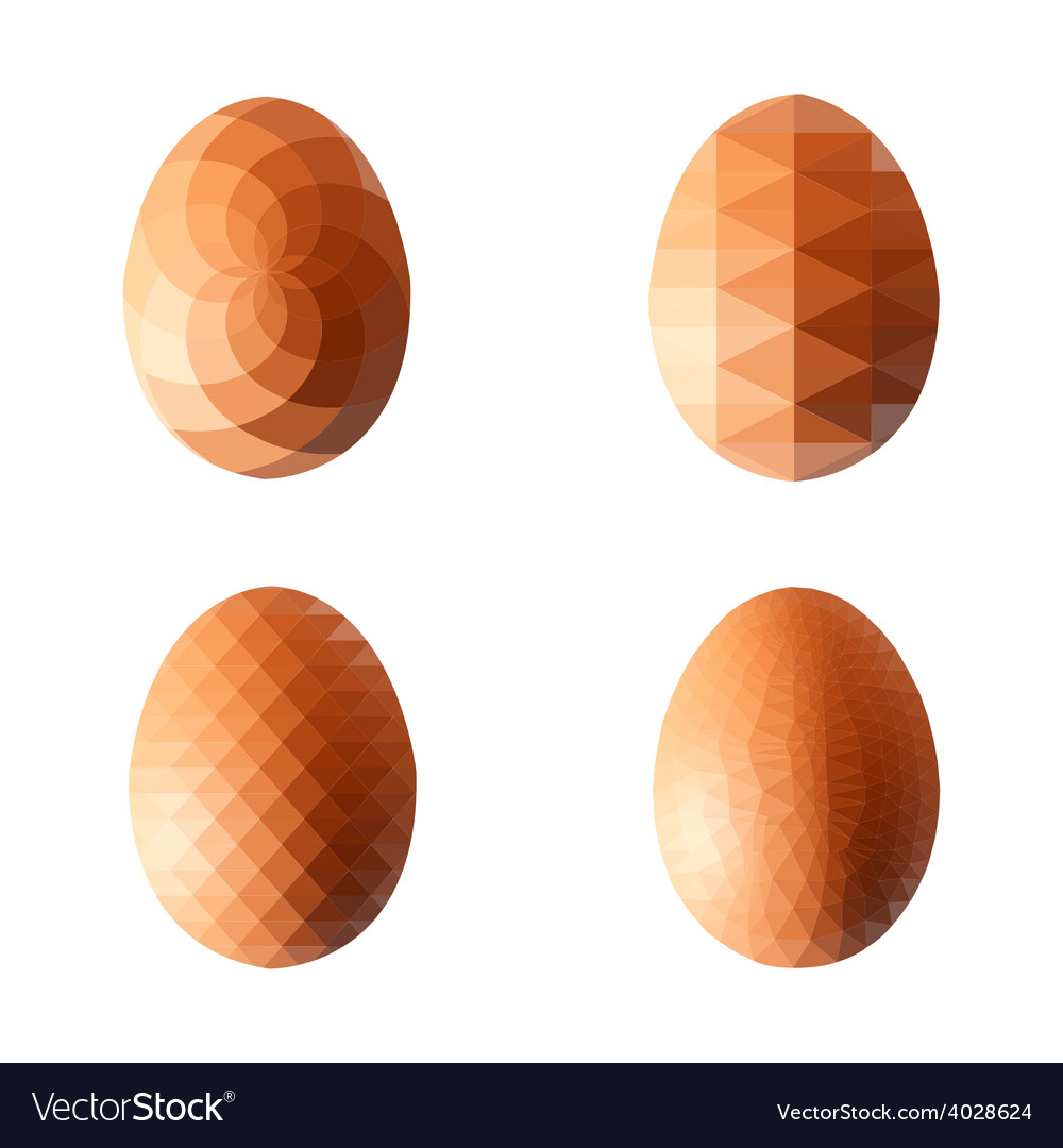 Set of eggs in polygonal style vector   Price: 1 Credit (USD $1)