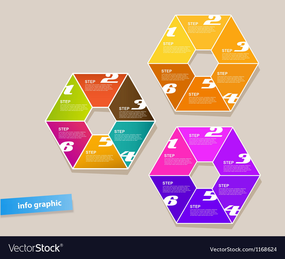 Set of infographic objects with numbers vector   Price: 1 Credit (USD $1)