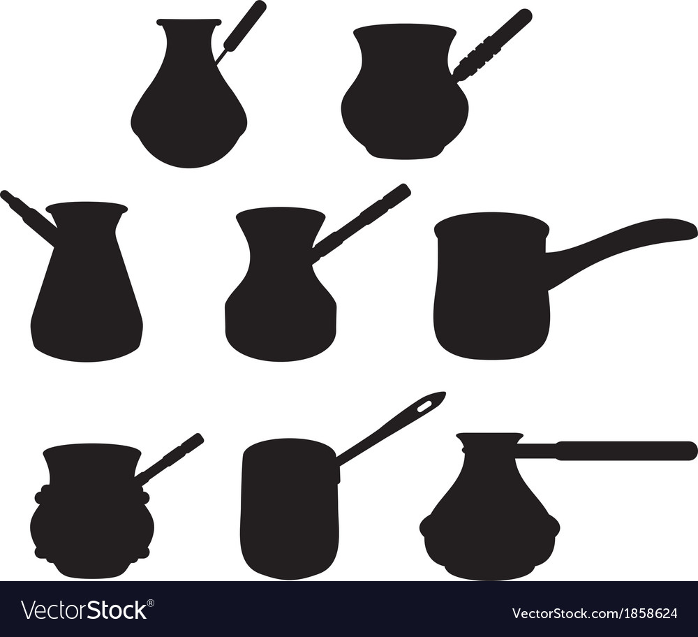 Set turk for brewing coffee vector | Price: 1 Credit (USD $1)
