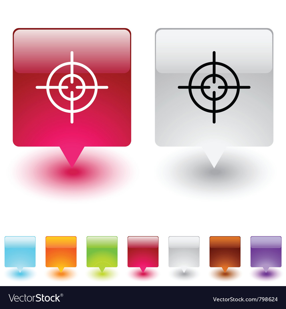 Sight square button vector | Price: 1 Credit (USD $1)