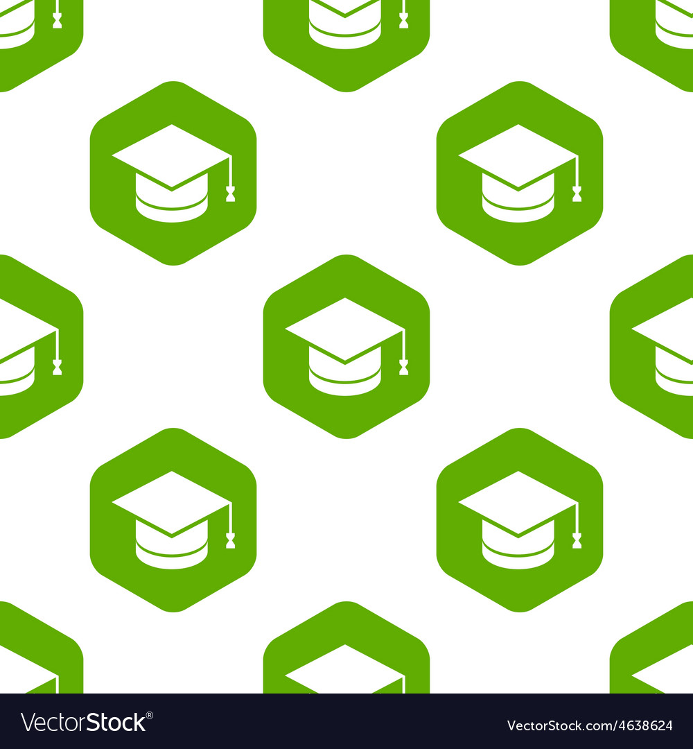 Square academic hat pattern vector | Price: 1 Credit (USD $1)