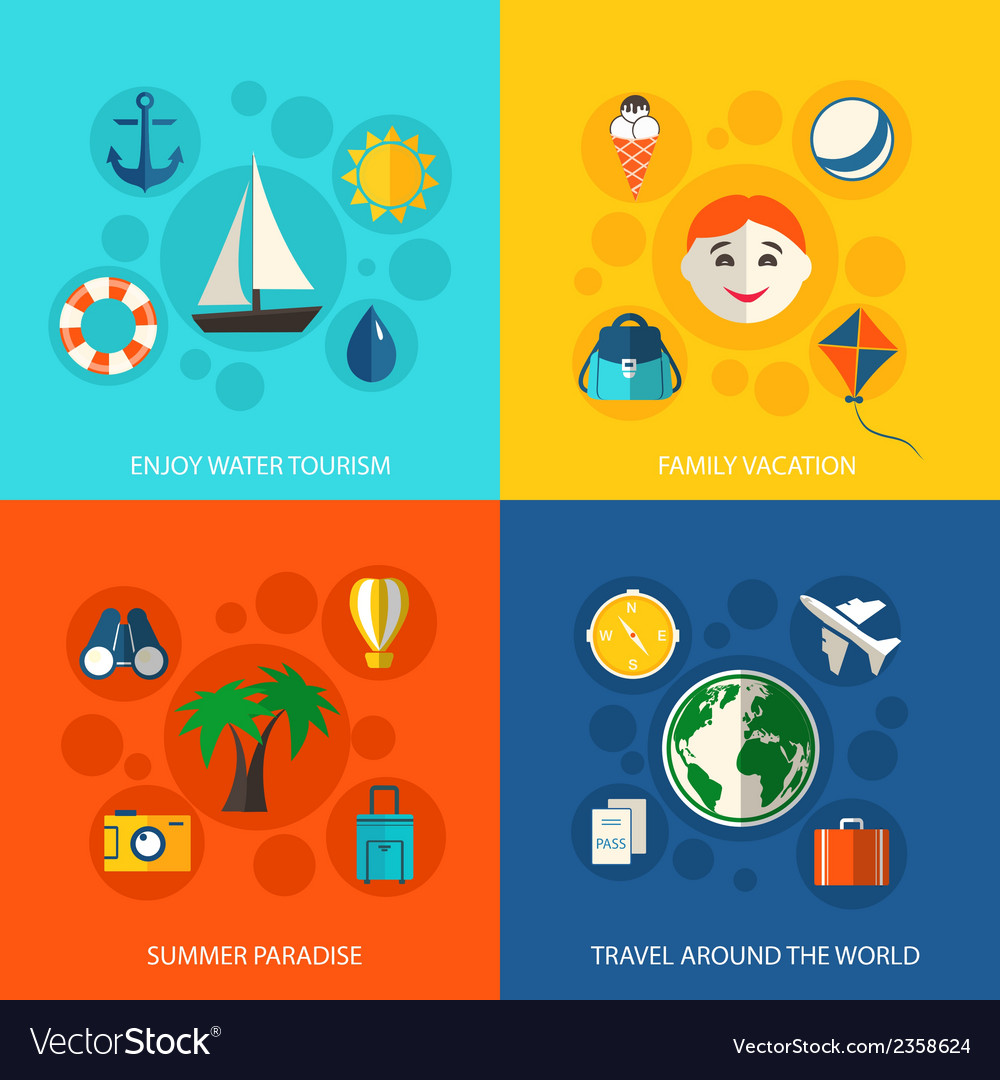 Summer travel vacation concept vector | Price: 1 Credit (USD $1)