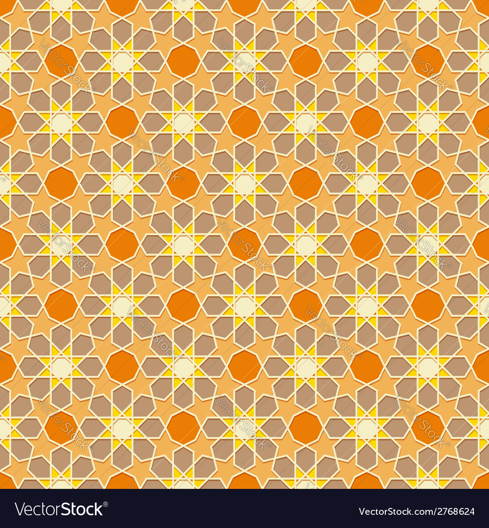 Traditional ornamental seamless islamic pattern vector | Price: 1 Credit (USD $1)