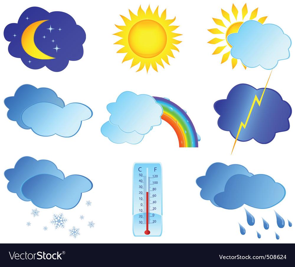 Weather elements vector | Price: 1 Credit (USD $1)